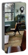 Teacher - One Room Schoolhouse With Clock Portable Battery Charger by Susan Savad