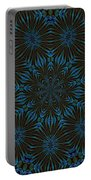 Teal And Brown Floral Abstract Portable Battery Charger