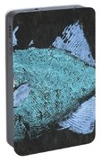 Gyotaku Triggerfish Portable Battery Charger by Captain Warren Sellers