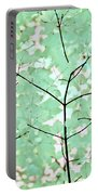 Teal Greens Leaves Melody Portable Battery Charger