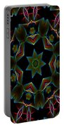 Teal Star Burst Portable Battery Charger