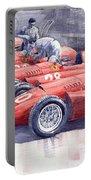 1956 Team Lancia Ferrari D50 Type C 1956 Italian Gp Portable Battery Charger
