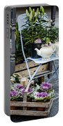 Teapots And Flowers Portable Battery Charger