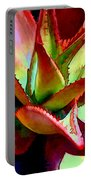 Technicolored Agave Succulent Portable Battery Charger