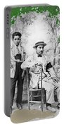 Ted Degrazia With  Uncle  Gregorio Circa 1920's-2013 Portable Battery Charger