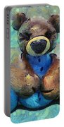 Teddy Bear In Blue Portable Battery Charger