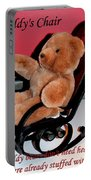 Teddy's Chair - Toy - Children Portable Battery Charger by Barbara Griffin