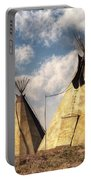 Teepees Portable Battery Charger by Daniel Eskridge