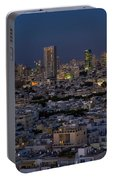Tel Aviv At The Twilight Magic Hour Portable Battery Charger