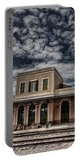 Tel Aviv First Railway Station Portable Battery Charger by Ron Shoshani