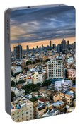 Tel Aviv Skyline Winter Time Portable Battery Charger
