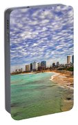 Tel Aviv Turquoise Sea At Springtime Portable Battery Charger