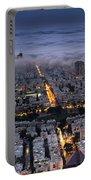 Tel Aviv Under Fog  Portable Battery Charger
