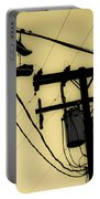 Telephone Pole And Sneakers 1 Portable Battery Charger