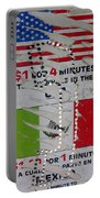Telephone  Usa Mexico One Dollar Four Minutes Booth Us Mexico Flags Eloy Arizona 2005 Portable Battery Charger