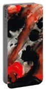 Tempest - Red And Black Painting Portable Battery Charger