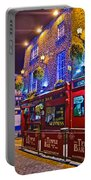 The Temple Bar Pub Dublin Ireland Portable Battery Charger