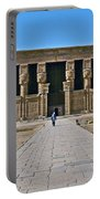 Temple Of Hathor Near Dendera-egypt Portable Battery Charger by Ruth Hager