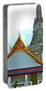 Temple Of The Dawn-wat Arun In Bangkok-thailand Portable Battery Charger