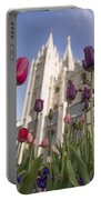 Temple Tulips Portable Battery Charger by Chad Dutson