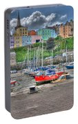 Tenby Harbour In Summer 4 Portable Battery Charger