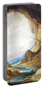 Teniers' Vista From A Grotto Portable Battery Charger