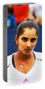 Tennis Player Sania Mirza Portable Battery Charger by Nishanth Gopinathan