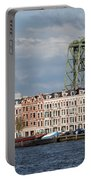 Terraced Houses And Koninginnebrug In Rotterdam Portable Battery Charger