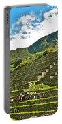 Terraces Of Machu Picchu-peru Portable Battery Charger