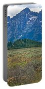 Teton Peaks And Flatland Near Jenny Lake In Grand Teton National Park-wyoming Portable Battery Charger