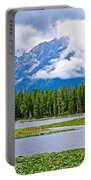 Tetons From Heron Pond In Grand Teton National Park-wyoming Portable Battery Charger