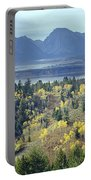 1m9209-tetons From Signal Mountain, Wy Portable Battery Charger