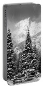 Tetons In Snow Portable Battery Charger