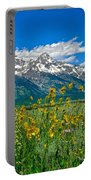 Tetons Peaks And Flowers Right Panel Portable Battery Charger
