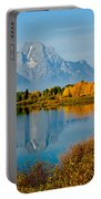 Tetons With Moose Portable Battery Charger