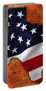 Texas American Flag Map Portable Battery Charger
