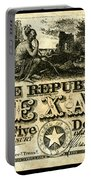 Texas Banknote, 1840 Portable Battery Charger