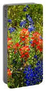 Texas Bluebonnets And Red Indian Paintbrush Portable Battery Charger