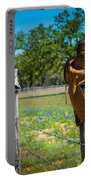 Texas Boot Fence Portable Battery Charger