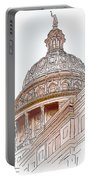 Texas Capitol Sketch Portable Battery Charger
