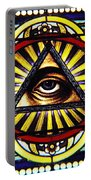 Eye Of Providence Texas Church Window Portable Battery Charger