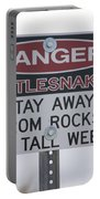 Texas Danger Rattle Snakes Signage Portable Battery Charger