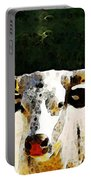 Texas Longhorn - Bull Cow Portable Battery Charger by Sharon Cummings