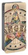 Texas Rangers Poster Art Portable Battery Charger