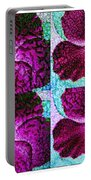 Textured Blossoms Portable Battery Charger