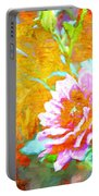 Textured Dahlia Perfection Portable Battery Charger
