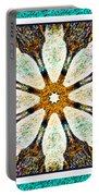 Textured Flower Kaleidoscope Triptych Portable Battery Charger