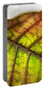 Textured Leaf Abstract Portable Battery Charger