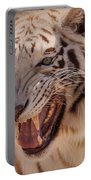 Textured Tiger Portable Battery Charger