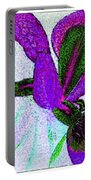 Textured Wild Purple Iris Portable Battery Charger